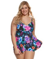 Penbrooke Plus Size Gracious V-Neck Tankini Top