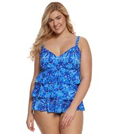 Penbrooke Plus Size Porcelain Triple Tier Tankini Top