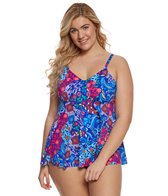 Penbrooke Plus Size Bali V-Neck Tankini Top