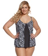 Penbrooke Plus Size Mini Picks Tankini Top