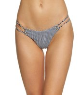 Blue Life Swimwear Seersucker Roped Up Skimpy Bikini Bottom