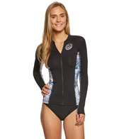 Rip Curl Women's Wetty Front Zip Long Sleeve Rashguard
