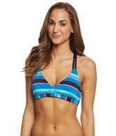 Jag Rugby Stripe Crisscross Bikini Top