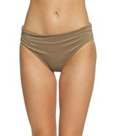 Kenneth Cole Lurex Solids Shirred Bikini Bottom