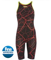 Arena Women's Powerskin Carbon Air LE Full Body Short Leg Open Back Tech Suit Swimsuit