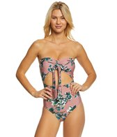 Splendid Watercolor Floral One Piece Swimsuit