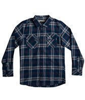 Quiksilver Boys' Fitzspeere Woven Long Sleeve Flannel Shirt (Big Kid)