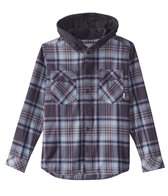 Quiksilver Boys' Hooded Tang Woven Long Sleeve Shirt (Big Kid)