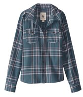 Billabong Girls' Cozy Up Long Sleeve Flannel Shirt