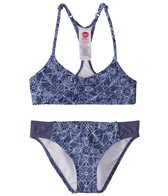 Roxy Girls' Perou Ditsy Halter Tri Set (Big Kid)
