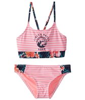 Roxy Girls' Waves Crop Bra Swimwear Set (Little Kid)
