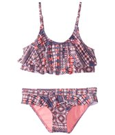 Roxy Girls' Waves Flutter Swimwear Set (Big Kid)