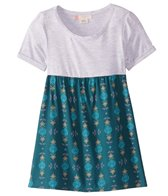 Roxy Girls' Branche of Lilac 2 Short Sleeve Tee Dress (Little Kid)