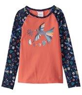 Roxy Girls' Birdy Fashion Lycra Rashguard Top (Little Kid)