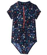 Roxy Girls' Birdy Short Sleeve Onesie Corolle (Little Kid)