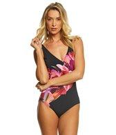 Gottex Sangria Surplice One Piece Swimsuit