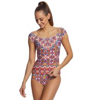 Kenneth Cole Reaction Casablanca Off the Shoulder Tankini Top