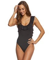 Kenneth Cole Reaction Ready to Ruffle Scoopneck One Piece Swimsuit