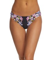 Kenneth Cole Reaction Dark Romance Shirred Cheeky Hipster Bikini Bottom