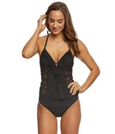 Kenneth Cole Reaction Rock Royalty Push Up Tankini Top