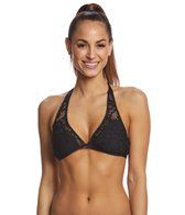 Kenneth Cole Reaction Rock Royalty Halter Bikini Top (D-Cup)