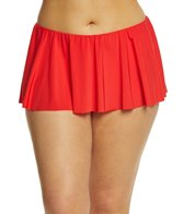 Kenneth Cole Reaction Plus Size Solid Flounce Swim Skirt