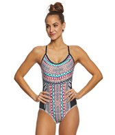 Jantzen Geo Zebra Strappy Back One Piece Swimsuit