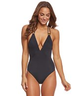 Vix Black Solid Moon One Piece Swimsuit