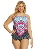 24th & Ocean Plus Size Carpet Ride High Neck Tankini Top
