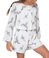 O'Neill Girls' Lana Long Sleeve Romper (Toddler, Little Kid)
