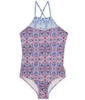 Seafolly Girls Girls' Boho Tile One Piece Swimsuit (Big Kid)