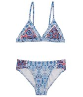 Seafolly Girls Girls' Boho Tile Trikini Set (Big Kid)