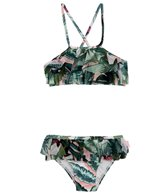 Seafolly Girls Girls' Palm Beach Frill Tankini (Toddler, Little Kid)