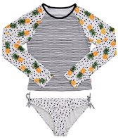 Seafolly Girls Girls' Pineapple Daze Long Sleeve Surf Set (Big Kid)