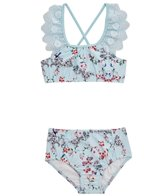 Seafolly Girls Girls' Blue Birds Garden Apron Tankini (Toddler, Little Kid)