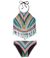 Hobie Girls' Fringe Tankini and Hipster Swimwear Set (Big Kid)