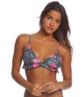 Motel Sakila Ruffle Floral Bikini Top