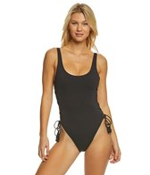 Vince Camuto Riviera Solid Lace Up One Piece Swimsuit