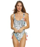 Vince Camuto Wildflower Lace Up One Piece Swimsuit