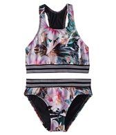 Next Girls' Undercover Tropics High Neck Halter & Retro Swim Bottoms Set (Big Kid)
