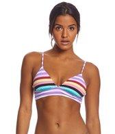 Bikini Lab Stripeout Lace Back Midkini Bikini Top