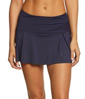Nautica Solid Pleated Swim Skirt