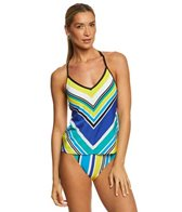 Nautica Coastline Stripe Cross Back Tankini Top