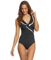 Longitude Mod Squad Ruffle Surplice One Piece Swimsuit