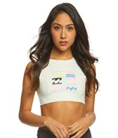 Billabong Women's Reissue Crop Muscle Rashguard Top