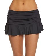 Lauren Ralph Lauren Beach Club Solid Skirted Hipster Bikini Bottom