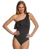 Lauren Ralph Lauren Beach Club Solid One Shoulder One Piece Swimsuit