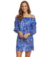 Lauren Ralph Lauren Playa Floral Off Shoulder Tunic