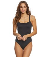 Polo Ralph Lauren Modern Solid Martinique Tank One Piece Swimsuit
