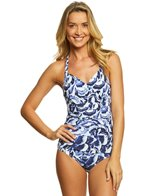 Tommy Bahama Pansy Petals Wrap Halter One Piece Swimsuit